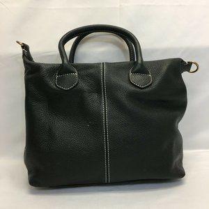 G.I.L.I. Rustic Leather Handbag with Top Handles